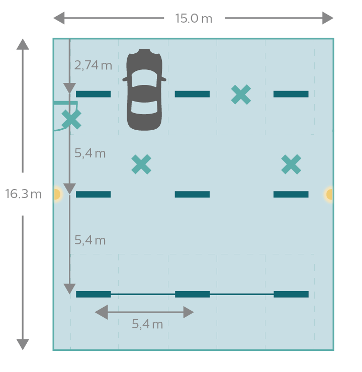 Car park diagram